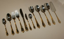 Amefa AFS40 Flatware 18-10 Stainless w/ Gold Accents Scrolls Shell - You... - $6.88+