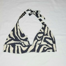 Victoria's Secret Halter Bikini Top Zebra Print XS - $15.88