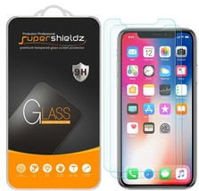 2X Supershieldz Tempered Glass Screen Protector Saver Shield for Apple iPhone X