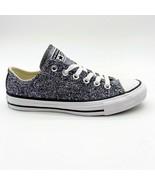 Converse Chuck Taylor All Star Ox Glitter Silver Womens Sneakers 566271C - $59.95
