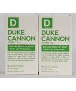 2 Ct Duke Cannon Supply Co 10 Oz Big Ass Brick Of Soap Smells Like Produ... - $28.99