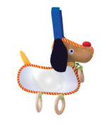 "Manhattan Toy Look at me Puppy Interactive Baby Toy With Mirror 9"" Infant - $8.60"