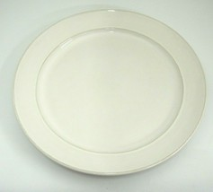 """Pier 1 White Cambria 1 Large Dinner Plate 11.75"""" Portugal Pottery - $9.40"""