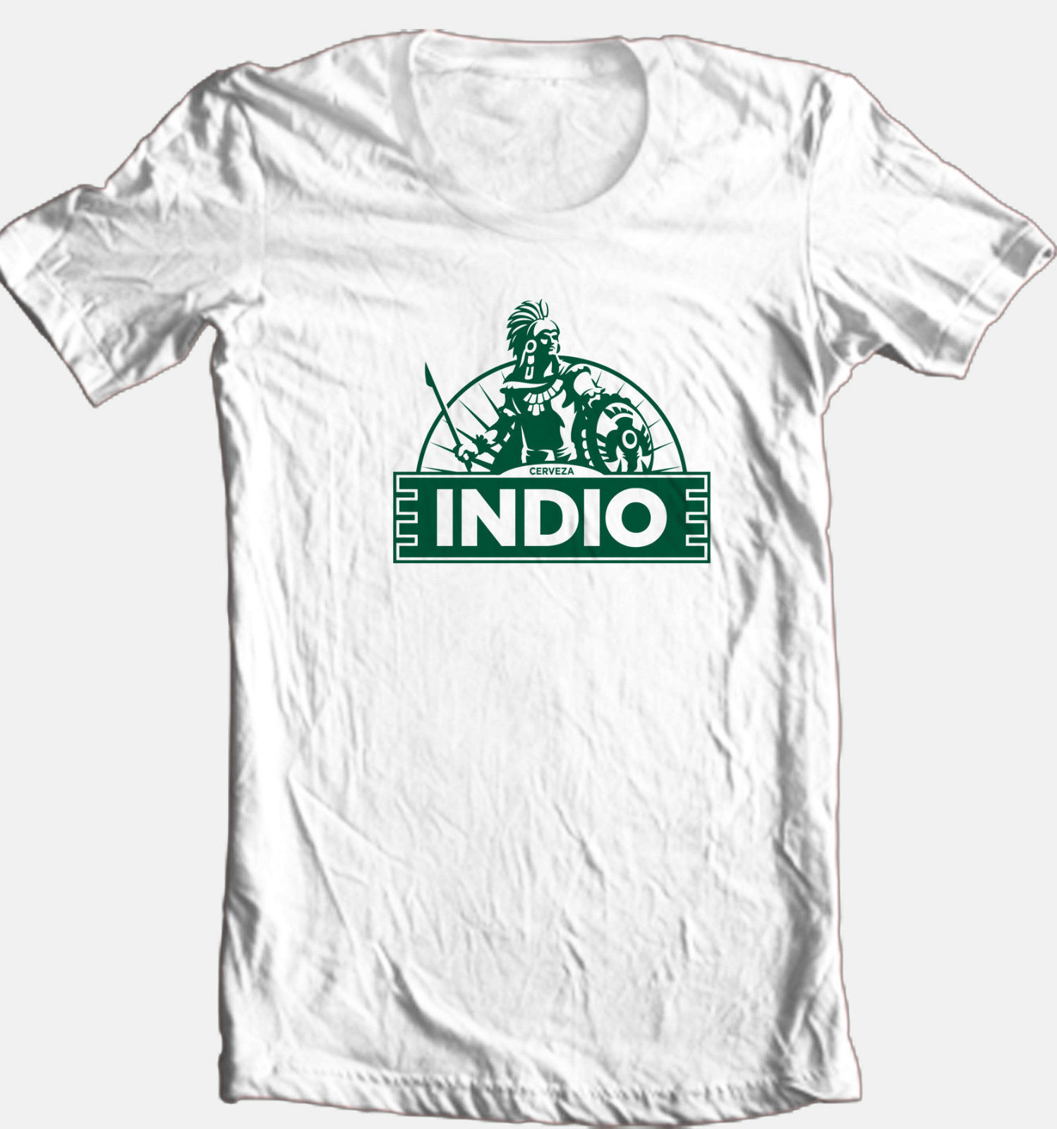 Indio Cervesa T-shirt beer bar Mexican 100% cotton graphic white cotton tee