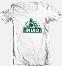 Indio Cervesa T-shirt beer bar Mexican 100% cotton graphic white cotton tee image 1