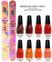 Wet N Wild Spoiled Nail Color Collection #4 Of 8 Shades Plus 2 Free Nail Files F - $19.59