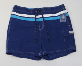 Chaps Navy Blue Board Shorts Swim Trunks Boardshorts Brief Liner Mens NWT - $33.74