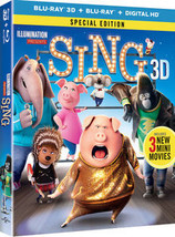 Sing (2017) Blu-ray 3D/Digital - $22.95