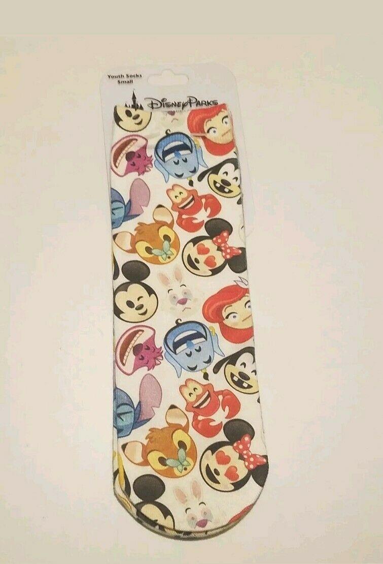 Disney Parks Youth Novelty Socks size Small Emojis