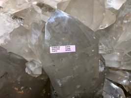 CRYSTAL QUARTZ w/ STAND MINERAL ROCK INCREDIBLE FORMATIONS Sticker $45,000 image 3