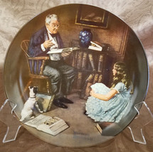 """Vintage Rockwell's Rockwell Heritage Collection """"The Storyteller"""" Plate,... - $18.00"""