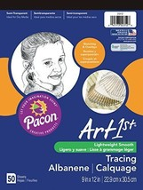 """50 Count Tracing Paper Pad """"9 x 12"""" Sheet For Sketch Overlay Drawing Art... - $6.92"""