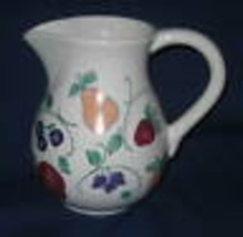 Orchard Medley Ceramic PITCHER Princess House NEW Fruit Pear - $29.69