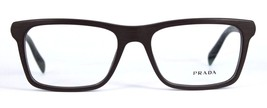 Prada VPR 06R  TV6-1O1 Eyeglasses Matte Dark Brown Havana 53mm - 93 - $66.36