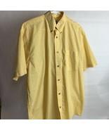 Men's Wrangler Riata Yellow Plaid Western Short Sleeve Cowboy Shirt Size L - $13.86