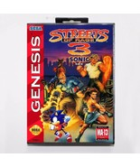 Streets of Rage 3 with Sonic The Hedgehog Cartridge & Case - Sega Genesi... - $24.99