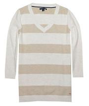 Tommy Hilfiger Damen Strukturiert Streifen Pullover (klein, Egret / Nuss... - $29.65
