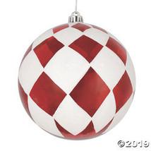 """Vickerman 6"""" Red Ball with White Diamond Glitter Ornament - 3/Box - $31.50"""