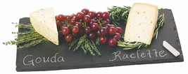 Elegant Cheese Board, Country Home Square Slate Rustic Serving Cheese Bo... - $31.49
