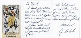 JIM DOMBROWSKI AUTOGRAPHED CARD & HAND WRITTEN GET WELL CARD NEW ORLEANS... - £4.27 GBP