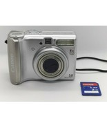 Canon PowerShot A530 5MP Digital Camera 4x Optical Zoom Viewfinder Teste... - $22.49