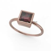 Sterling Silver Rose Gold Plated Garnet Stackable Ring Handmade Vintage ... - $578.15