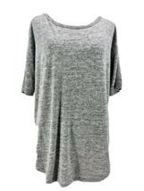 Gap Women's Gray Short Sleeve Scoop Neck Knit Blouse Size Small - $14.85