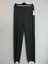NWT ARMANI COLLEZIONI Grey Wool Flannel Wide Leg Pants Trouser 42/6 - $126.09