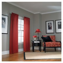 "50""W x 84"" L Lincolnshire Red Pleated Rod Pocket Panel - $21.68"