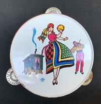 RARE Vintage U.S. Metal Toy Mfg Co. Tin Gypsy Tambourine toy - $7.59