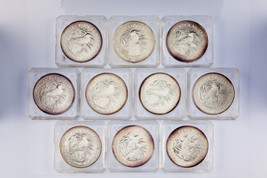 Lot of 10 1990 Australia Silver 1oz Kookaburras (BU Condition) KM# 189 - $622.63