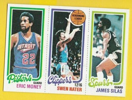 Eric MONEY-SWEN NATER-JAMES Silas 1980 Topps PISTONS-CLIPPERS-SPURS - $5.88
