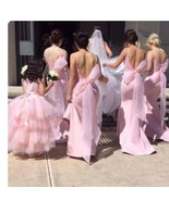 Backless Mermaid Designer Bridesmaids Dresses with Sexy Large Bow Sash - $179.99