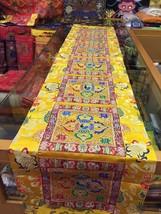 Tibetan Yellow double dorji silk brocade Shrine/table/cover/cloth/runner... - $48.00