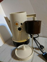 Vintage Regal Poly Perk Daisy Floral 4-8 Cup Automatic Coffee Percolator... - $22.98