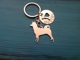 Akita Custom Dog Keychain. Personalized your dog's name. Memorial. Akita Jewelry - $18.00