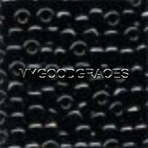 100 Mill Hill Size 6 Glass Beads (6/0) Round #16014 Black 4mm 5.2 grams - $1.51