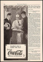 Vintage magazine ad COCA COLA from 1924 picturing a soda jerk at the fou... - $12.99