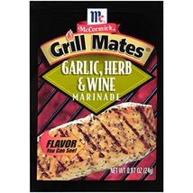 McCormick Grill Mates Garlic, Herb & Wine Marinade Mix, 0.87 oz - $7.99