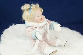 "Ashton Drake 1993 ""Annie"" Porcelain Doll 14""H Winter Wonderland Collecti... - $28.54"