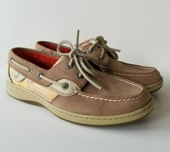 Sperry Top Sider Womens Bluefish Shoes 6.5 M Leather Boat Shoes Sequins Flats - $19.34