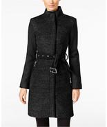 VINCE CAMUTO Wool Blend Zip Front Belted Coat MSRP$275.00 - $130.89
