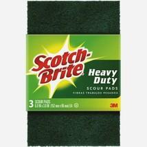 Scotch-Brite SCOUR PADS 3 ct. All-Purpose Heavy Duty Reusable Kitchen 223-10 NEW - $8.59