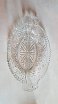 Oval Divided Relish Tray, Anchor Hocking, Pressed Glass, Stars and Bars ... - €8,47 EUR