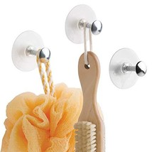mDesign Bathroom Shower Never Rust Plastic Suction Cup and Metal Organiz... - $10.57