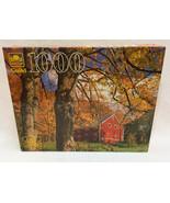 Jigsaw Puzzle 1000 Piece Golden Guild Peachum Vermont Barn Autumn Leaf F... - $10.88