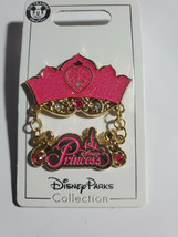 NWT Disney  PRINCESS CROWN Jeweled w/ Dangle Trading Pin - $12.82