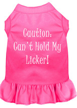 Can't Hold My Licker Screen Print Dress Bright Pink Lg (14) - $13.48