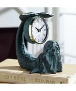 Whimsical Mermaid Iron Table Clock,6.5'' x 6.5''H - $50.49