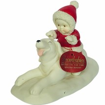 Snowbabies Department 56 Christmas figurine Giddyap Horsey 5667546 dog f... - $38.65